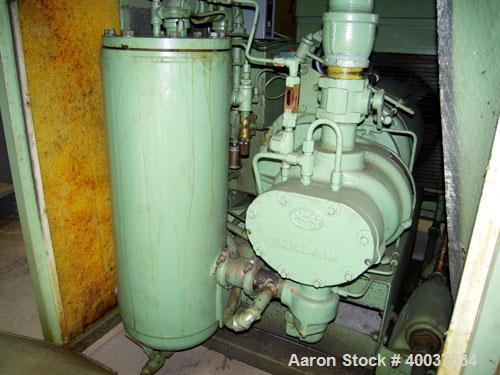 Used- Sullair Rotary Screw Air Compressor, model LS-10. Approximately 111 cfm at 100 psig. Approximately 100 psi, and a 25 h...