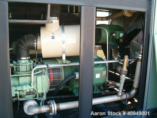 Used-Sullair Compressor, 200 hp, 125 psi, 800 cfm, air cooled.