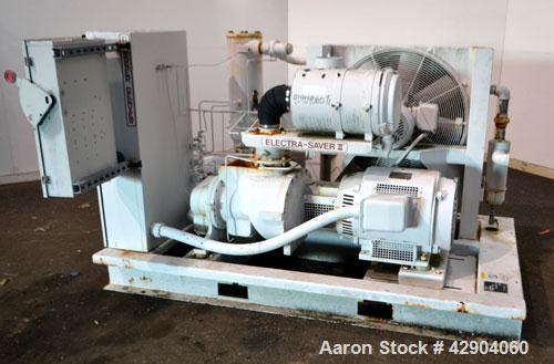 Used- Gardner Denver Electra-Saver II Oil Flooded Rotary Screw Air Compressor, Model EBM99K. Rated approximate 320 cfm at 12...