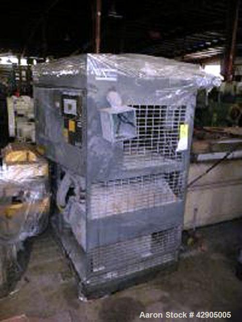 Used- Atlas Copco Oil-Injected Rotary Screw Air Compressor, Model GA75. Missing