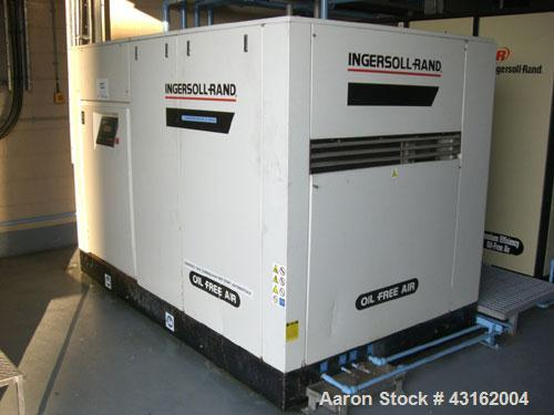 Used- Ingersoll Rand Type Sierra-SM90W rotary screw oil free air compressor. 90 KW motor. Unit rated 13.6 cu mt/hr with disc...