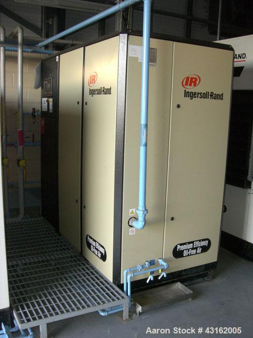 Used- Ingersoll Rand Model Nirvara OFN37 oil free screw air compressor. Unit rated 5.4 cu mt/hr with 10 bar discharge pressu...