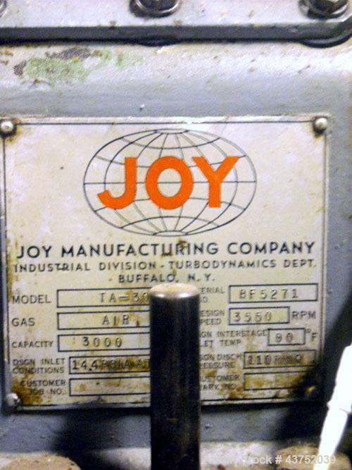 Used- Joy Manufacturing Company Turbo Air Compressor, Model TA30