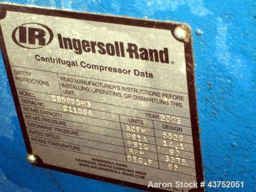 "Used- Ingersoll-Rand ""Centac"" Air Compressor, Model C95055M3"