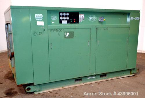 Used- Sullair Air Cooled Rotary Screw Air Compressor, Model 25-200H ACAC. Approximately 900 cfm at 150 psig. Driven by a 250...