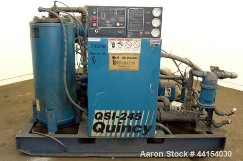 Used- Quincy QSI-245 Water cooled  Rotary Screw Compressor, Model QSI245WNW31B. Approximate air delivery 245 cfm at 110 psig...