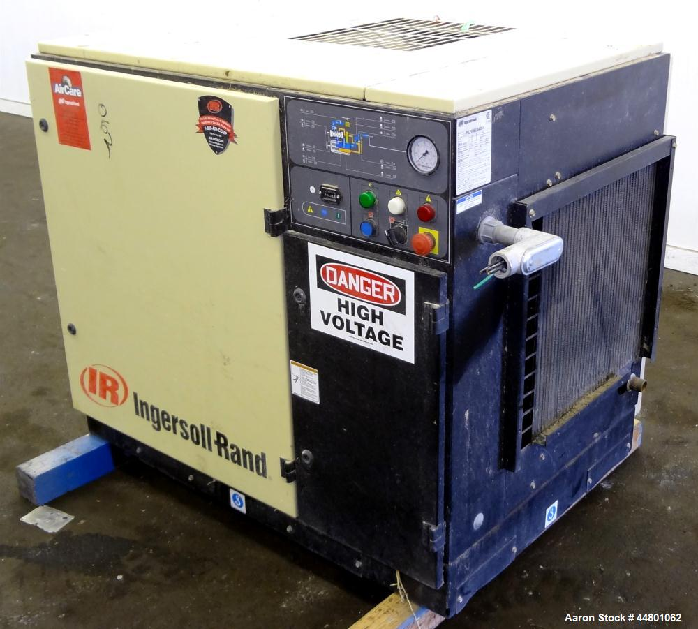 Used- Ingersoll-Rand Air Cooled Rotary Screw Air Compressor, Model SSR UP6-25-12