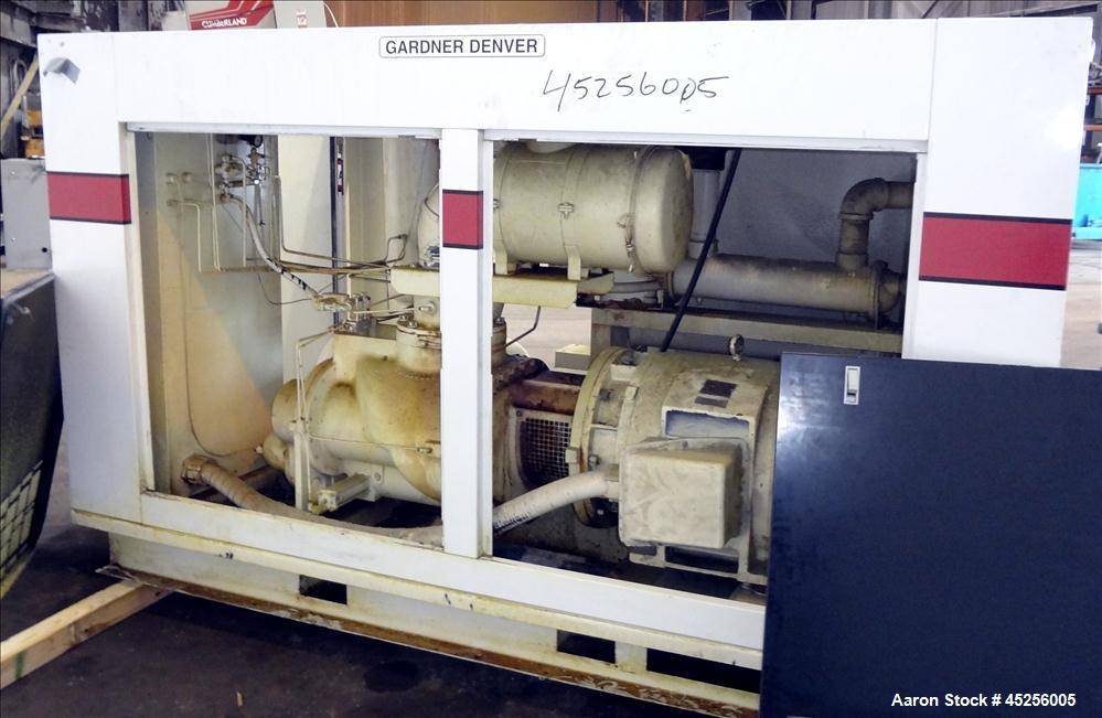 Used- Gardner Denver Electra-Saver Water Cooled Rotary Screw Air Compressor, Model EAQS0F