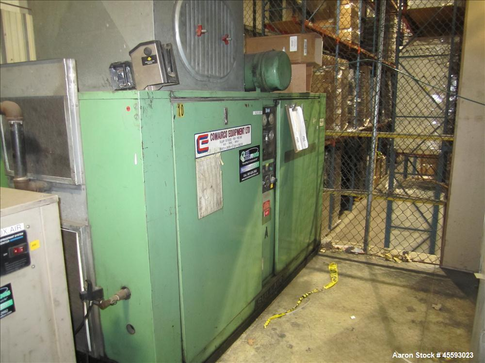 Used-Comp Air model 6000C rotary screw air compressor, 100 hp, 125 psi, s/n 7215