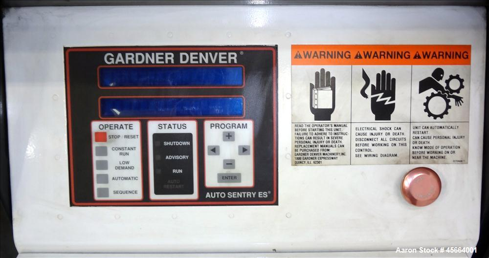 Used- Gardner Denver Electra-Saver II Air Compressor, Model EBHQJC.