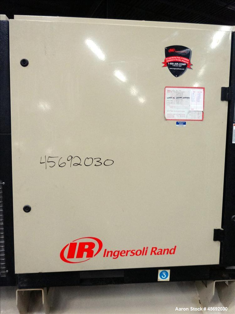 Used-Ingersoll-Rand Air Cooled Rotary Screw Air Compressor, Model UP6 30-150. Capacity 112 cfm, rated operating pressure 150...