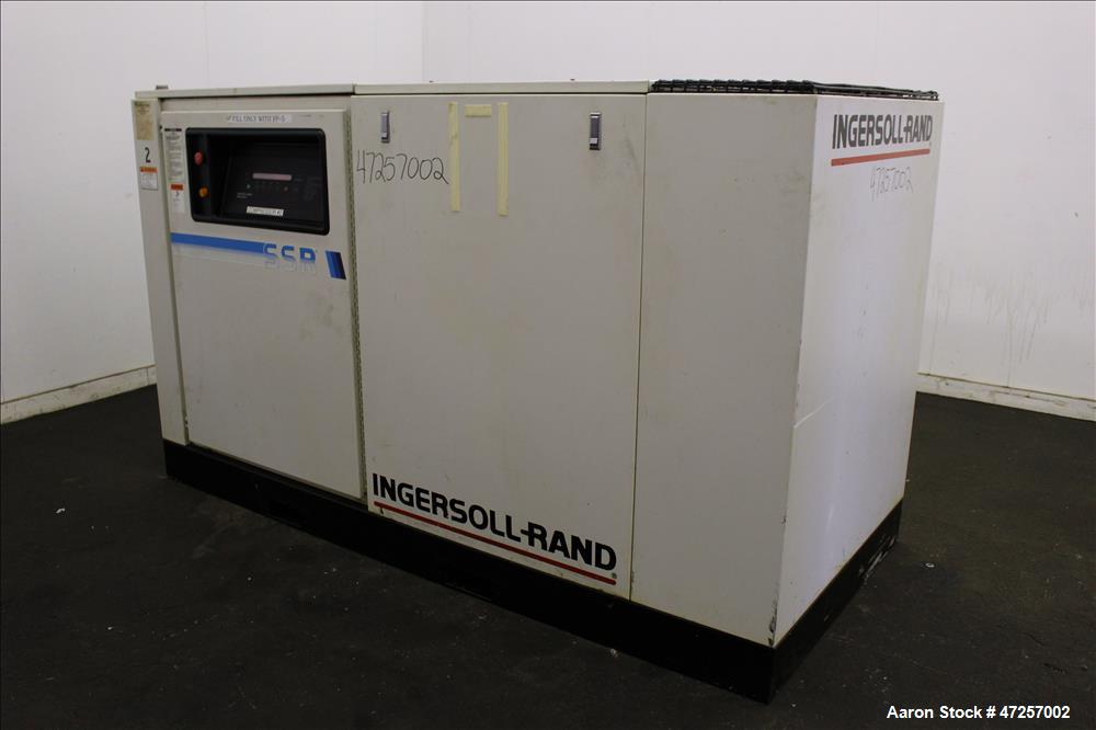 Used- Ingersoll-Rand Air Cooled Rotary Screw Air Compressor, Model SSR-EP60