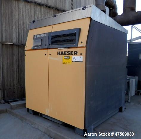 Used- Kaeser Air Compressor, Model HB 950 C. Rated 3,169 cfm, 200 HP motor, 460 volt.  Yr. 2011