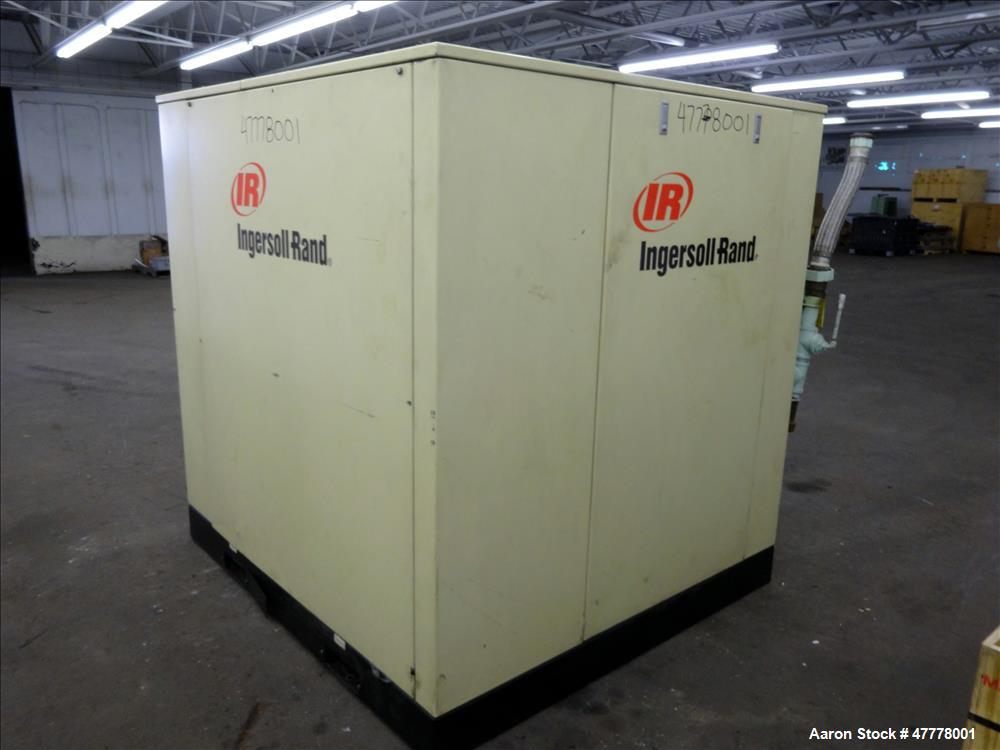 Used- Ingersoll-Rand Rotary Screw Air Compressor, Model SSR-HP75.
