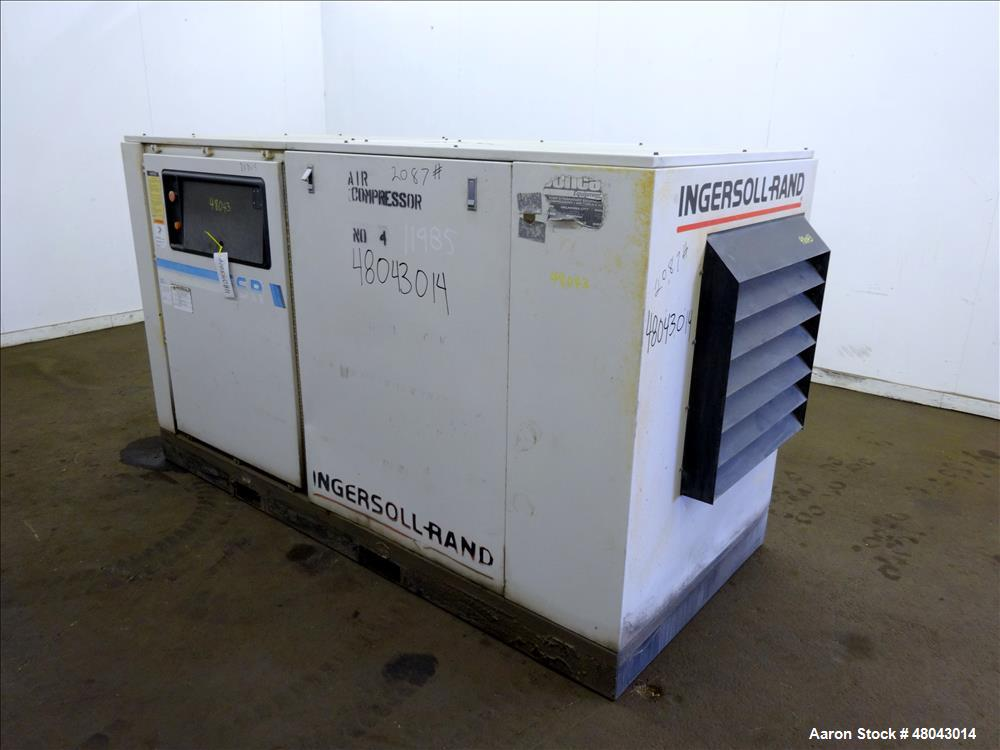 Used- Ingersoll-Rand Air Cooled Rotary Screw Air Compressor, Model SSR-EPE50.