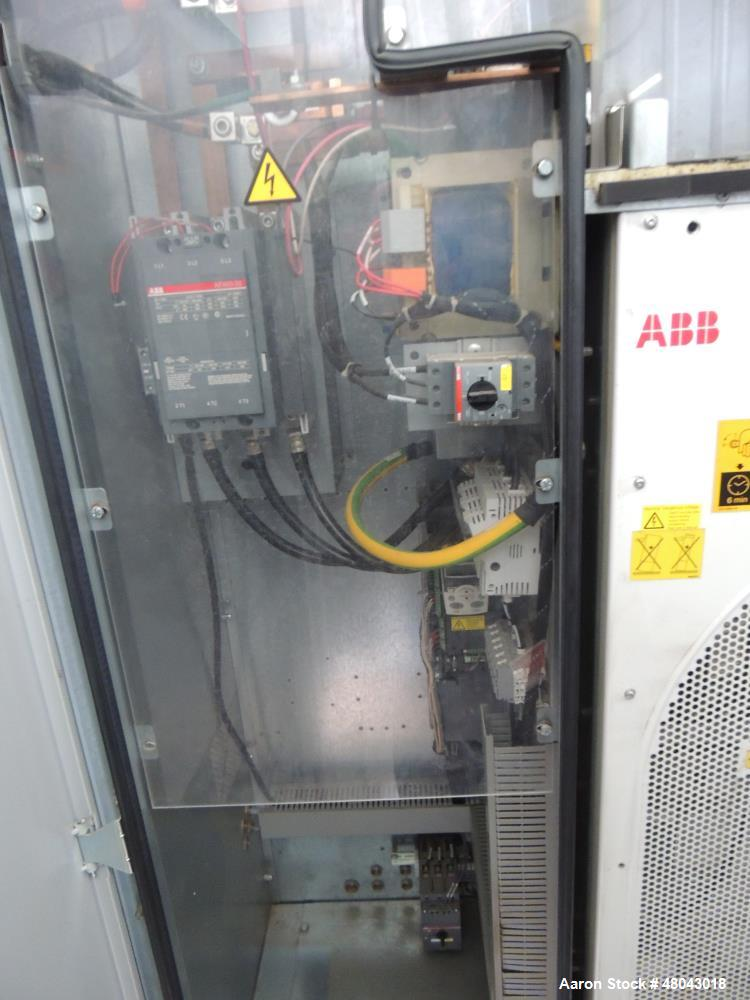 Used- Atlas Copco One Stage Lubricated Screw Air Compressor. Model GA110VSP-AP. Rated 192 to 701 CFM @125PSI. Driven by 150 ...
