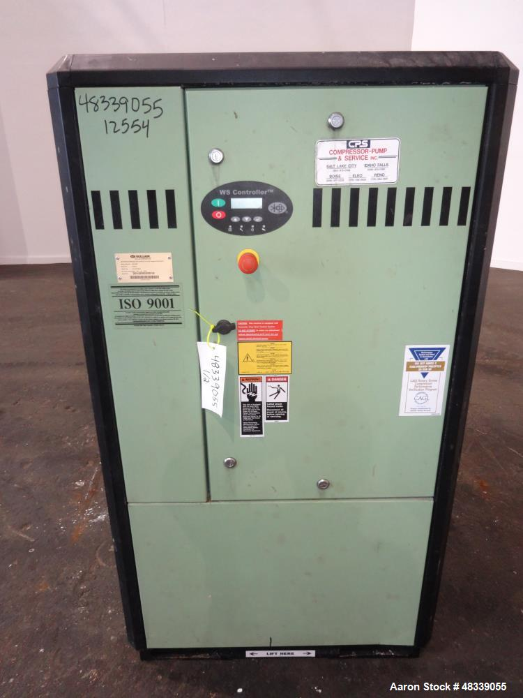Used- Sullair S-Energy 3700 Air Cooled Rotary Screw Compressor