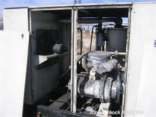 USED: Ingersoll Rand EP 150 compressor, rated at 6570 scfm @ 125 psi,150 hp drive motor 460/3/60/210 amps, enclosure.