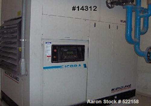 USED: Ingersoll Rand rotary screw air compressor, model Sierra H125.Two stage, oil free, 535 cfm @ 125 psig, air cooled with...