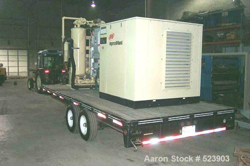 USED: Ingersoll Rand SSR-XP75 rotary screw air compressor, 75 hp.Mounted on a tandem axle trailer.Capacity 386 CFMRated Pres...