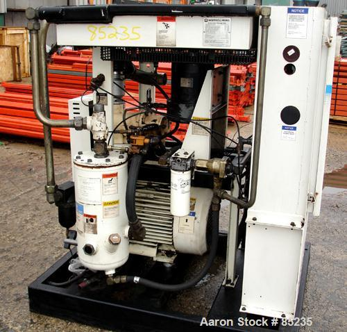 USED: Ingersoll Rand rotary screw compressor, model SSR-EP50SE, aircooled. Approx 198 scfm, operating 125 psi. Driven by a 5...