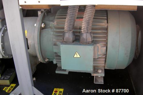 USED: Atlas Copco Stationary Rotary Screw Compresser, model GA55W. Rated max 132 psi, water cooled. Capacity approximately 3...