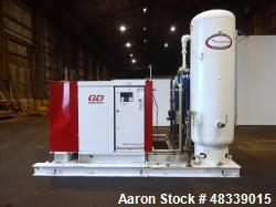 Used- Gardner Denver Electra-Saver II Air Cooled Rotary Screw Air Compressor, Model EBQ99M, Serial# S384899. Rated 495 ACFM ...
