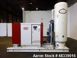 Used- Gardner Denver Electra-Saver II Air Cooled Rotary Screw Air Compressor, Model EBQ99M, Serial# S384900. Rated 495 ACFM ...