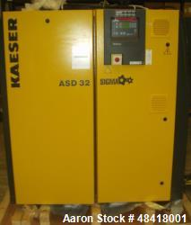 Kaeser Screw Compressor, Model ASD 32. 18,5 KW. Motor rotating speed 2940 1/min. Maximum work press...