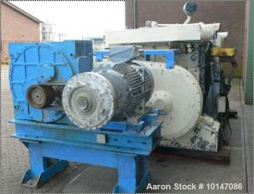 Used-Guittard Double Arm Mixer, Type Polymix M-200.Material of construction is carbon steel.Total capacity 530 gallons (2000...