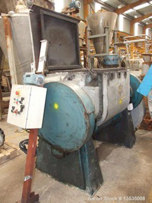 Used-Guittard M56 Double Arm Sigma Blade Mixer. Working capacity 250 liters (66 gallons), 11.25 kW (15 hp) motor and double ...