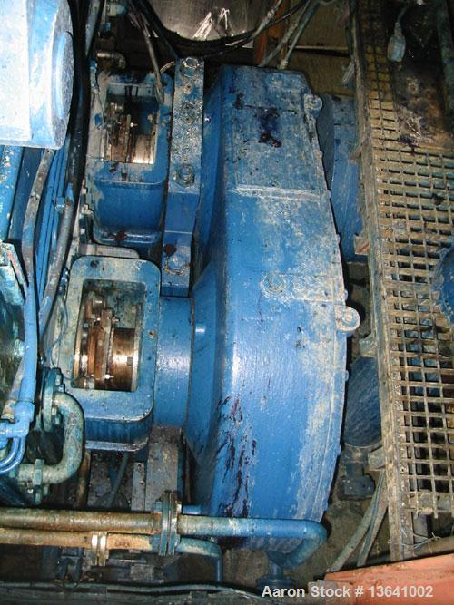 Used-Werner Pfleiderer Double Arm Mixer, type UK 20. Material of construction is carbon steel on product contact parts. Tota...