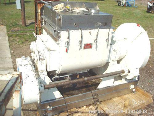 Used-J H Day 150 gallon working capacity double arm sigma blade mixer. Total capacity is 240 gallons. All product contacts a...
