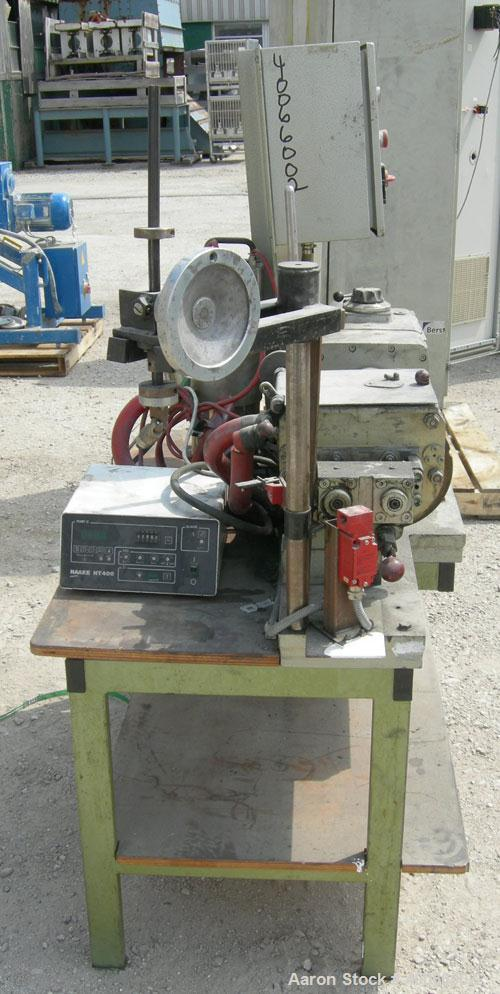 Used-  Stainless Steel Werner & Pfleiderer Lab Size Double Arm Mixer, 0.53 gallon (2 liter) working capacity