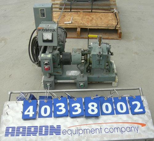 Used- Teledyne Readco lab size double arm mixer, size 1 qt (.25 gallon), 316 stainless steel. Carbon steel jacketed bowl, 9 ...