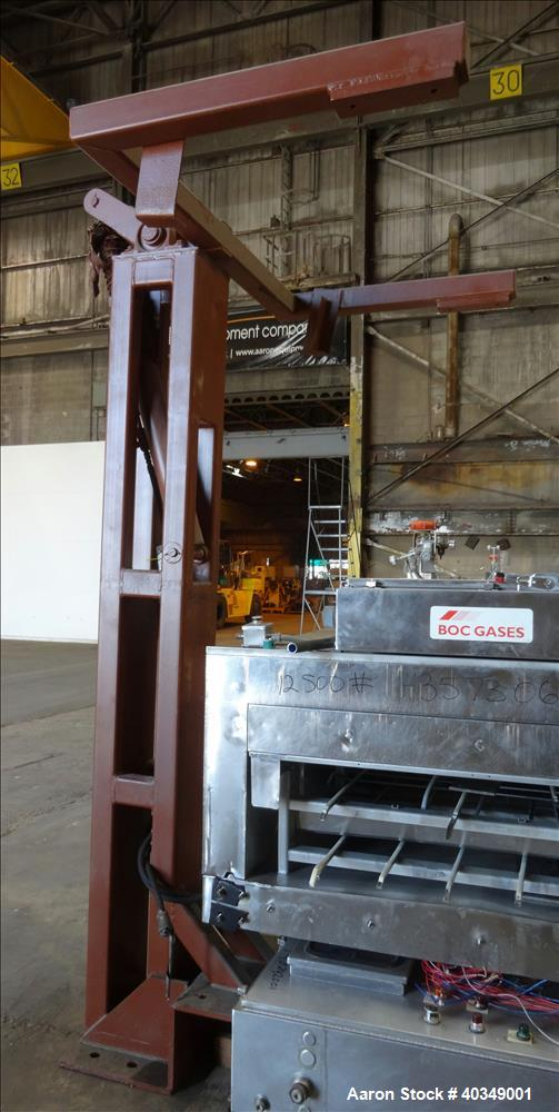 Used- Carbon Steel Aaron Process Double Arm Mixer, 300 gallon capacity