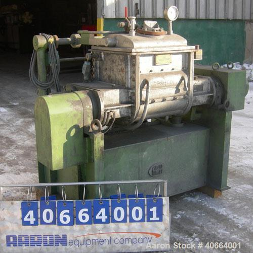Used- Carbon Steel AMK Double Arm Mixer, Type VII, approximate working capacity 15 gallon, (29 gallon/112 liter total)