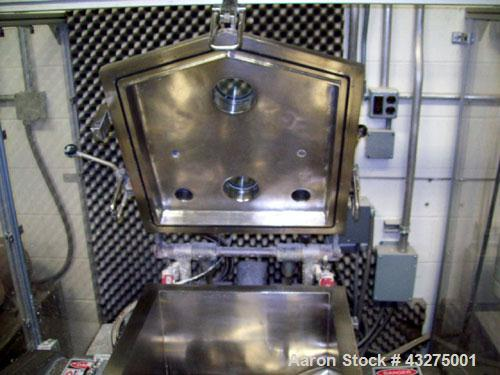 "Used-Meili Double Arm Sigma Mixer, 15 gallon capacity.  Stainless steel construction. Jacketed bowl measures 19"" L-R x 19"" F..."