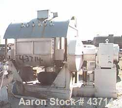 "Used- J.H. Day Mogul Double Arm Mixer, 300 Gallon, 304 Stainless Steel. Sanitary non-jacketed bowl 50"" left to right x 62"" f..."