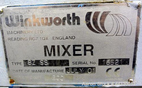 Used- Stainless Steel Winkworth Machinery 1 Gallon Double Arm Mixer, Model 8Z SS