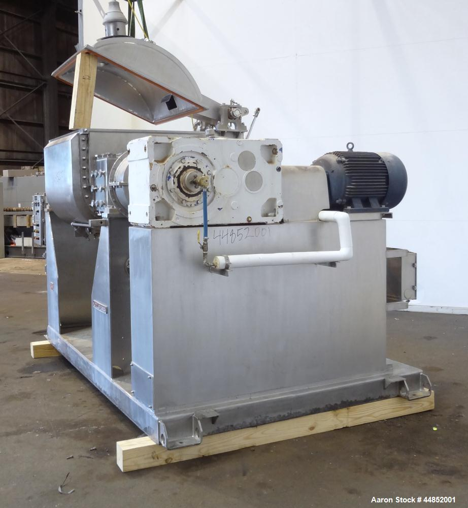 Used- Littleford Day Sanitary Mogul Double Arm Mixer, Model 100.  100 Gallon working capacity (150 total), 304 stainless ste...