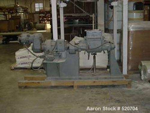 "USED: Paul O Abbe double arm sigma blade mixer, mild steel. Trough measures 12"" wide x 13"" long x 16"" deep. Approximate 10 g..."