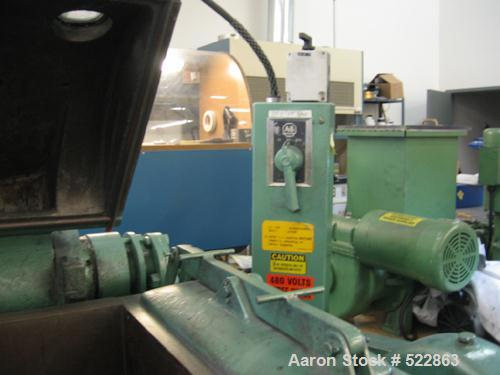 """USED: Readco double arm mixer, 10 gallon working capacity, 15 gallontotal, carbon steel. Jacketed bowl 16-3/4"""" front to back..."""