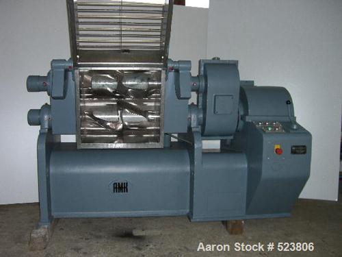 USED: AMK Z-blade mixer, driven by a 4 kW motor. Material of contactparts is stainless steel, capacity 21 gallon (80 liter),...