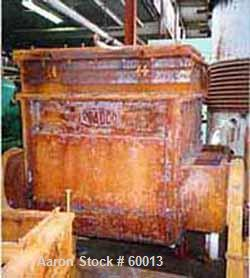 "USED: Readco double arm mixer, 100 gal working capacity. Carbon steel jacketed. Bowl only est 75 psi. Bowl 33"" l-r x 37"" f-b..."
