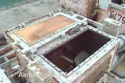 USED: Readco type P.M. 100 gallon double arm mixer. Carbon steel,jacketed, tangential sigma blades geared one end. Bowl meas...