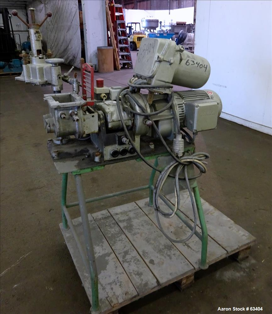 Used: Stainless Steel Werner & Pfleiderer lab size double arm mixer, type LDUK0.