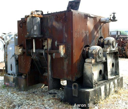 Used- Carbon Steel Teledyne Readco Split Level Double Arm Mixer, 550 Gallon Work