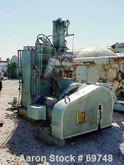 Used- Moriyama Double Arm Dispersion Mixer, 75 Liter (19 Gallon) Working, 180 Liter (47 Gallon) Total Capacity. Stainless st...