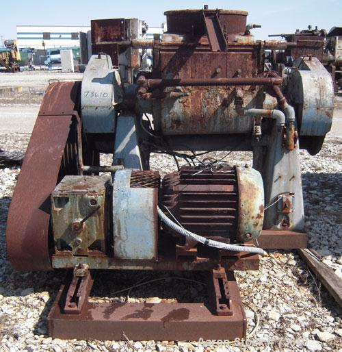 Used- Guittard Double Arm Mixer, Type M54, Carbon Steel.Approximate 26.42 gallon working capacity.Jacketed bowl measures app...